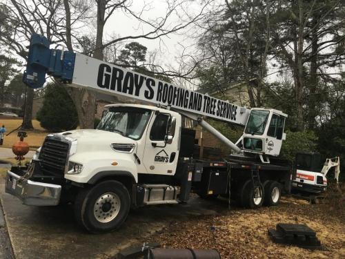 grays roofing tree crane service